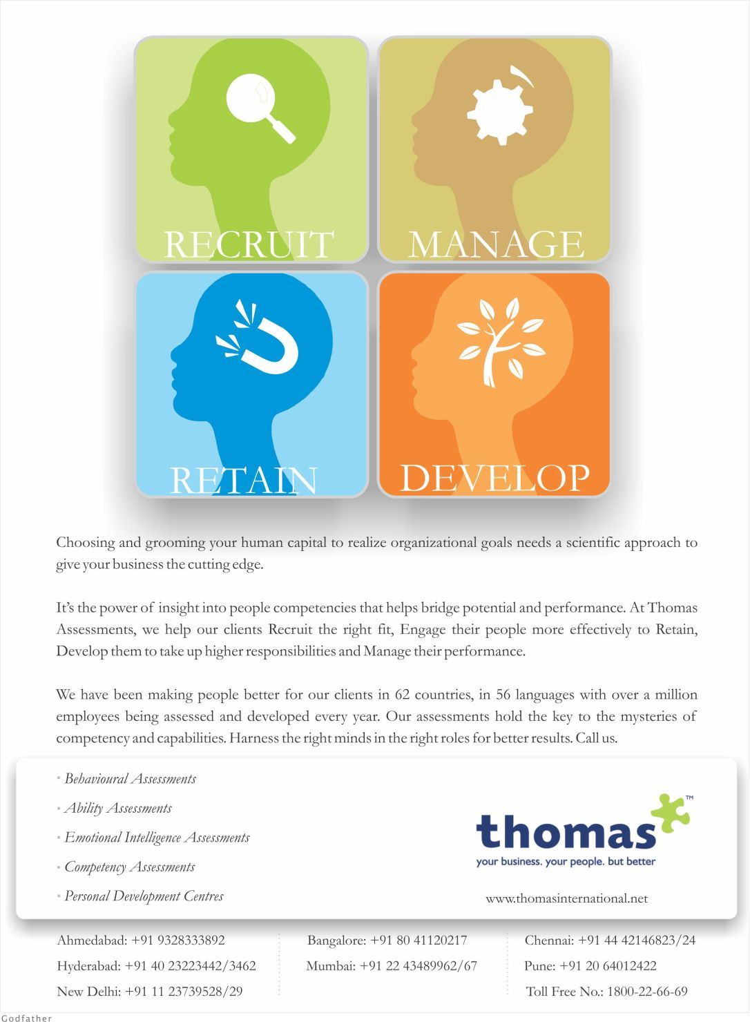 Thomas Ad for Dec2012 main issue